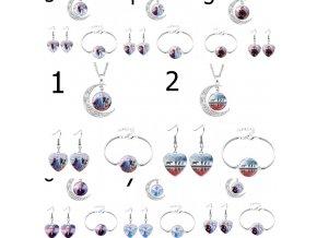 Šperky - dětská sada šperků s motivy ledové království - ledové království - dárek pro děti - výprodej skladu