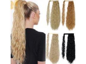 Vlasy - účesy - krásný příčesek kudrnatých vlasů na culík - příčesky - dárek pro ženu