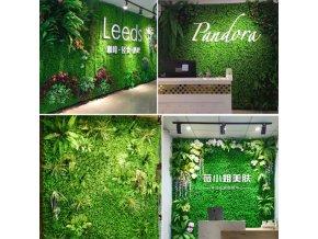 Dekorace - dekorace umělých rostlin na zeď v různých barvách - umělé květiny - dekorace na zeď - výprodej skladu