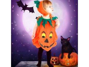 Dětské oblečení - dětský kostým na halloween ve stylu dýně - halloween - dýně - dárek pro děti
