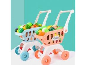 Hračky - košík - dětský nákupní plastový košík s potravinami - nákupní košík - dárek pro děti - výprodej skladu