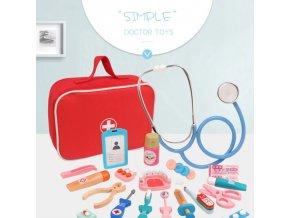Hračky - dětská lékařská sada s brašnou - lékařský kufřík - hračky pro děti - výprodej skladu