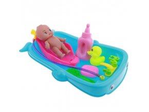 Hračky -  dětská panenka s vaničkou na koupání - panenka - miminko - hračky pro holky