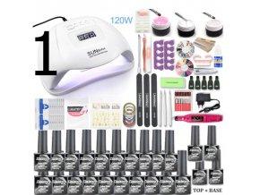 Nehty - gelové nehty -  různé sada na gelové nehty s lampou - bruska na nehty - dárky pro ženu