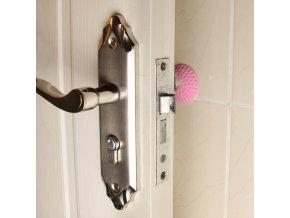 Samolepící gumové zarážky na dveře - barevné varianty - Sleva 50% (Barva Růžová)