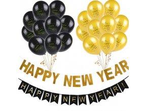 Dekorace - nafukovací balónky s nápisem na oslavu nového roku - výprodej skladu - balońky - silvestr