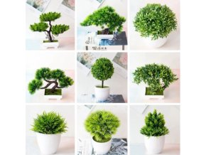 Dekorace  - dekorační umělá bonsaj - bonsai - dekorace do bytu - umělé květiny