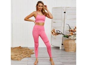 Oblečení - set fitness legíny + podprsenka vhodné na jógu - dámské legíny - podprsenky - jóga - výprodej skladu
