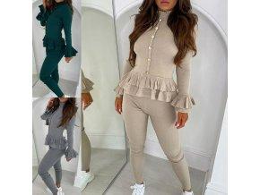 Oblečení - společenský pohodlný dámský kostým - dámské kalhoty - výprodej skladu