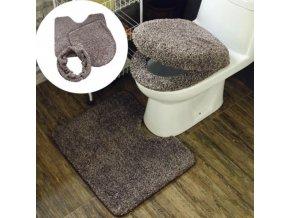 záchod - chlupatý set  předložek na záchod - záchodové prkénko - koupelnová předložka - výprodej skladu