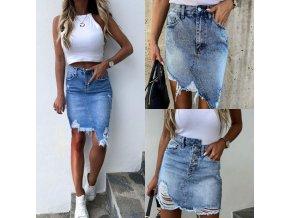 Oblečení - sukně - krásné stylové džínové sukně - letní sukně - džínové sukně - výprodej skladu