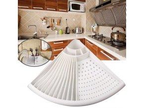Kuchyně - rohový odkapávač na nádobí - odkapávač na nádobí - nádobí