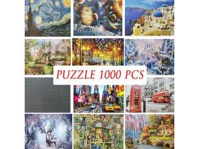 Puzzle - puzzle s různými obrázky 1000ks - puzzle jigsaw - vánoční dárek