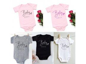 Dětské oblečení - dětské body oznámení miminka 2021 -  body - kojenecké oblečení