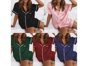 Oblečení - pyžamo - dámské pyžamo - dámský set pyžama kraťasy + tričko - dárek k vánocům - dárky pro ženu