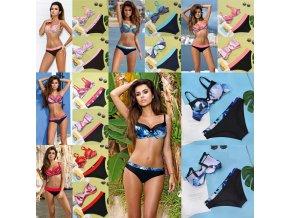 Plavky - dámské plavky - dvoudílné plavky - krásné push up plavky s různými vzory a barvy - výprodej skladu