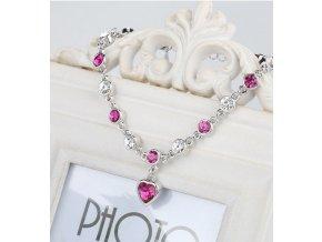 Luxusní řetízek s krystaly - barevné varianty - SLEVA 80% (Barva Růžová)
