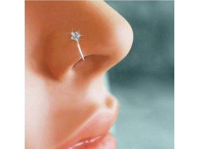 Piercing - falešný piercing do nosu zdobený kytkou - piercing do nosu - šperky - bižuterie