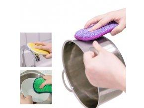 Kuchyně - oboustranná drátěná čistící houbička 5ks v sadě - nano houbičky - výprodej sklad