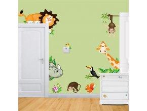 Samolepky na zeď s motivy zvířátek - SLEVA 80% (Typ 2)