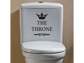 Vtipná samolepka na toaletu - Throne