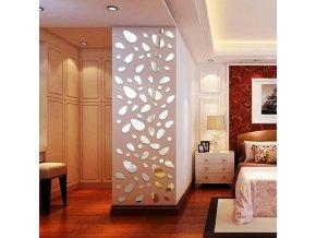 Samolepící zrcadlová dekorace na zeď - 12ks