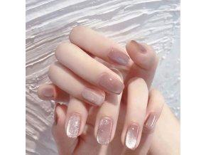 Kosmetika - nehty - nalepovací umělé nehty 24 ks - modeláž nehtů