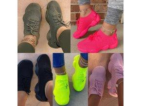 Boty - tenisky - dámské boty - dámské pohodlné stylové tenisky ve více barvách - dámské tenisky
