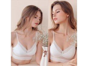 Dámské oblečení - dámské spodní prádlo - pohodlné podprsenka s puntíky - podprsenky - sportovní podprsenky