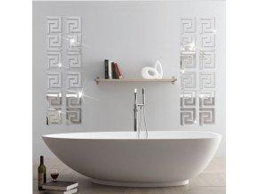 Samolepící dekorace Labyrint -10ks- barevné varianty - 70% (Barva Černá)