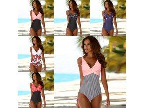 Dámské oblečení - dámské plavky - dámské jednodílné plavky ve více variantách - jednodílné plavky - výprodej skladu