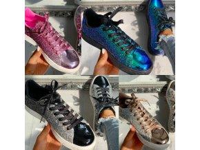 Boty - tenisky - dámské boty - krásné módní třpytivé tenisky - dámské tenisky