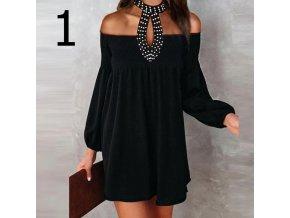 Oblečení - šaty - dámské šaty - dámské černé šaty ve dvou variantách s krásným zdobením - letní šaty - výprodej skladu