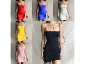 oblečení  - letní šaty  - pouzdrové mini šaty se špagátovými ramínky - dámské šaty - výprodej skladu