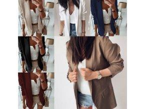 oblečení  - sako - dámské elegantní pohodlné sako ve více barvách - jarní bunda - výprodej skladu