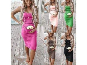 oblečení  - šaty - krásné těhotenské šaty s miminkem na bříšku - těhotenské šaty - slevy dnes