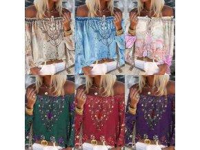 oblečení  - dámské halenky - dámská letní halenka v boho style v různých variantách - dámská trička