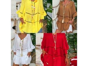 oblečení  - dámské halenky  - krásná letní halenka s volánky - košile - výprodej skladu
