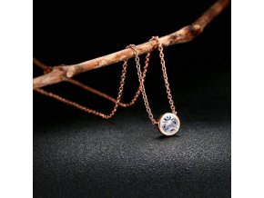 Šperky - řetízek - krásný decentní řetízek s kamínkem - dárek pro ženu  - slevy dnes
