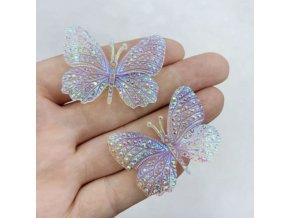 Dekorace - motýli - dekorace kamínkový motýl na tvoření po 8 ks - tvoření s dětmi