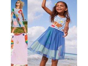Dětsié oblečení - šaty - dívčí šaty - letní dívčí šaty ve třech variantách - letní šaty - výprodej skladu