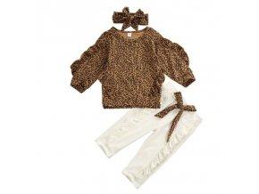 Dětské oblečení - dětský set oblečení pro holčičku v leopardím stylu - dárky pro děti - trička s potiskem