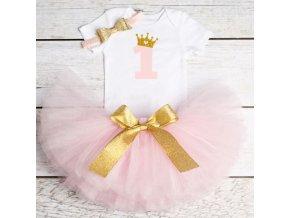 Dětské oblečení - dětský set oblečení pro holčičku na oslavu prvních narozenin - výprodej skladu - sukně