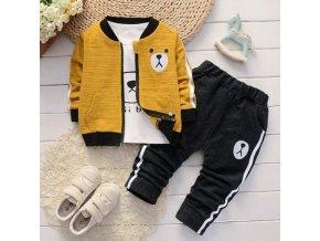 Dětské oblečení - dětský teplýkový set pro  kluky s medvídkem - mikiny - tepláky - výprodej skladu