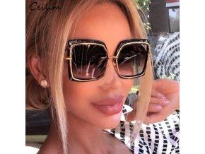 Brýle - velké módní sluneční brýle se zlatými detaily - sluneční brýle - slevy dnes