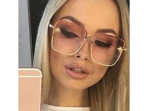 Brýle - velké módní sluneční brýle se znáčkem vosy - sluneční brýle - dárky pro ženu