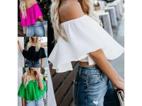 oblečení  - dámské halenky - krásná letní volná halenka - dámská trička - výprodej skladu