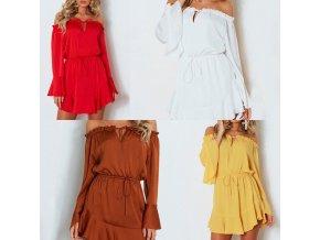 oblečení  - šaty - letní vzdušné s dlouhým rukývem a volánky - dámské šaty - letní šaty
