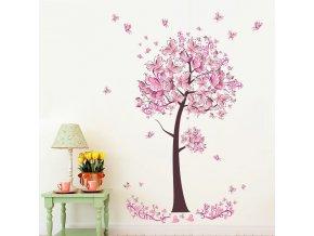 Dekorativní samolepka - růžový strom