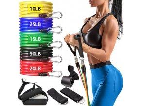 Cvičení - fitness - sada odporových gum na domácí cvičení - cvičení doma - výprodej skladu